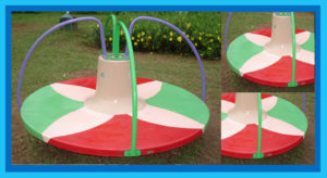 CHILDREN'S PLAY EQUIPMENT'S TWINDLERS-GO-ROUND MMGR – 4001