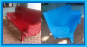 Park Bench 3 Seater MST1006